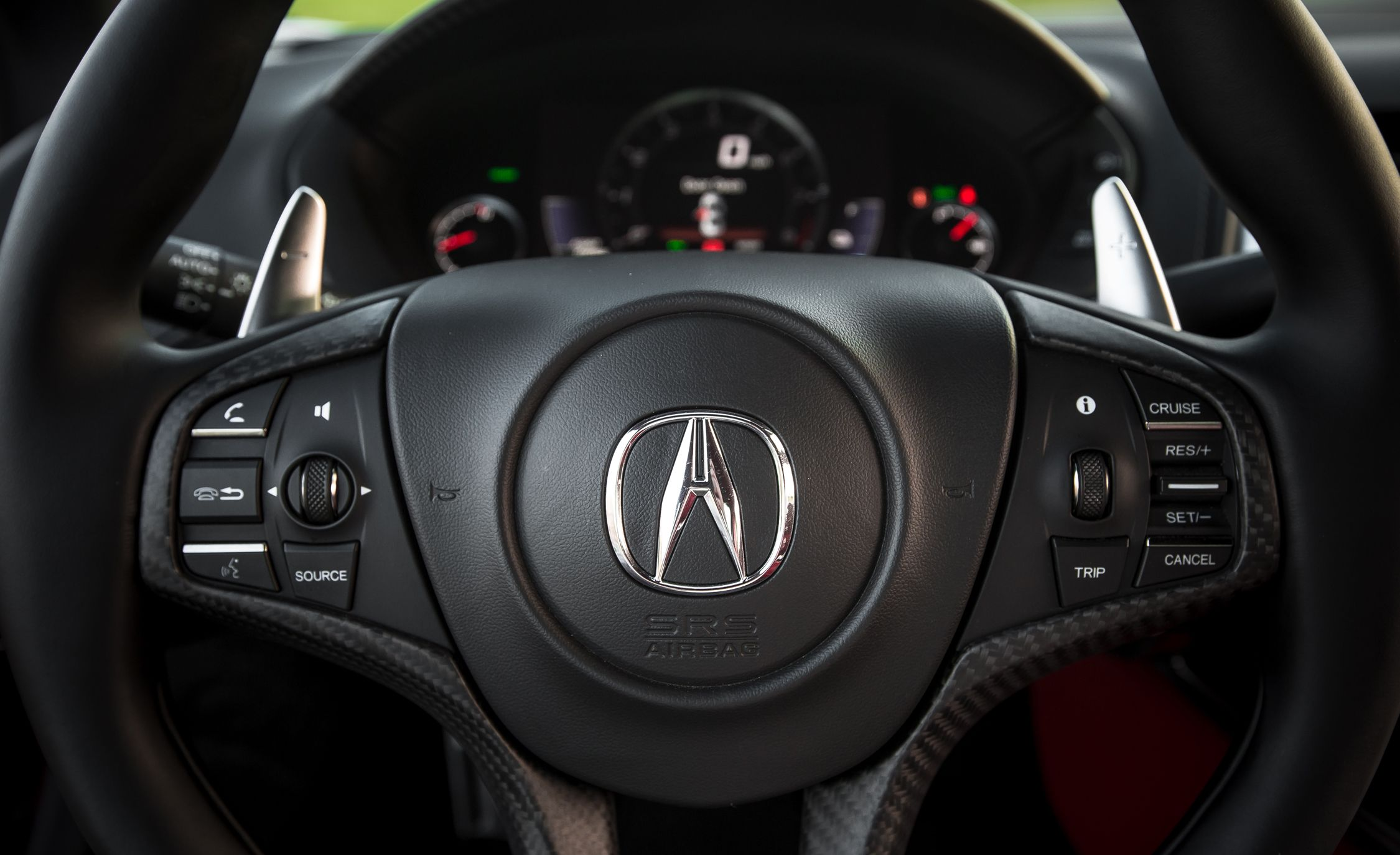 Acura NSX Interior Review Car And Driver - Acura steering wheel