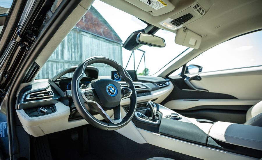 2017 bmw i8 interior review car and driver. Black Bedroom Furniture Sets. Home Design Ideas