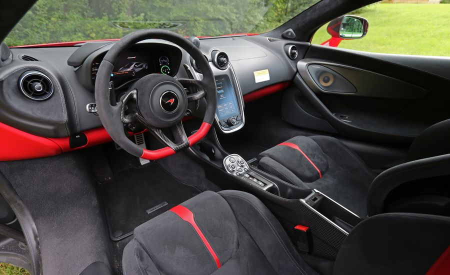 2017 mclaren 570s interior review car and driver. Black Bedroom Furniture Sets. Home Design Ideas