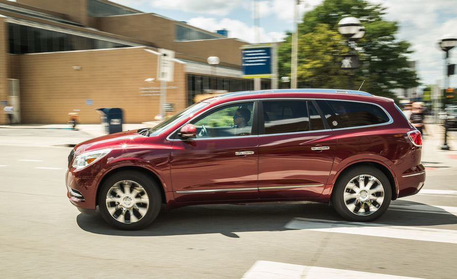 2017 buick enclave interior review car and driver. Black Bedroom Furniture Sets. Home Design Ideas