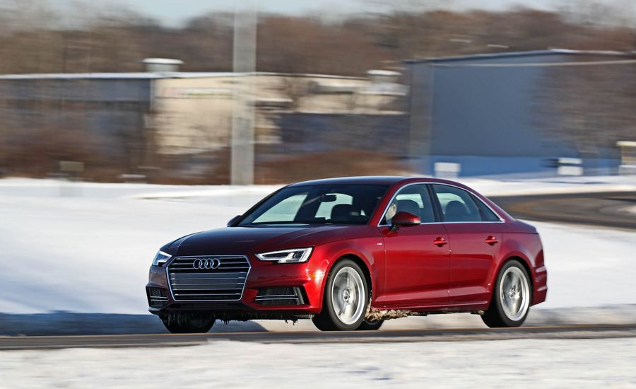 2018 audi a4 safety and driver assistance review car and driver. Black Bedroom Furniture Sets. Home Design Ideas