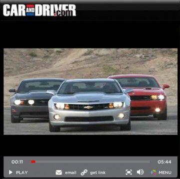 Muscle Car Comparison Video