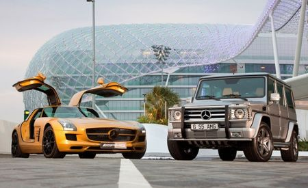 Mercedes Creates Unique SLS AMG and G55 AMG for Dubai Motor Show