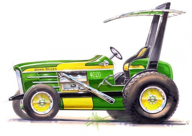 Chip Foose Goes (John Deere) Green, Hot-Rods a Tractor