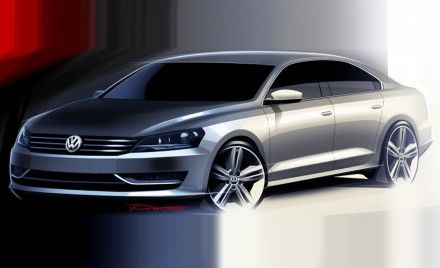 New Sketches of VW's U.S. Passat Replacement Released; Will Debut at Detroit Auto Show