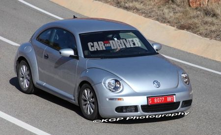 2012 Volkswagen Beetle Spied Nearly Camouflage-Free