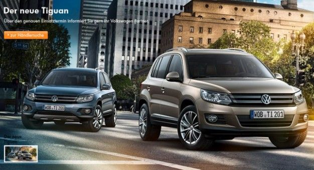 Volkswagen Accidentally Reveals Face-Lifted 2012 Tiguan