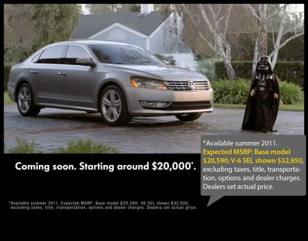 2012 VW Passat to Start at $20,590 Plus Destination, V6 Model to Run $32,950