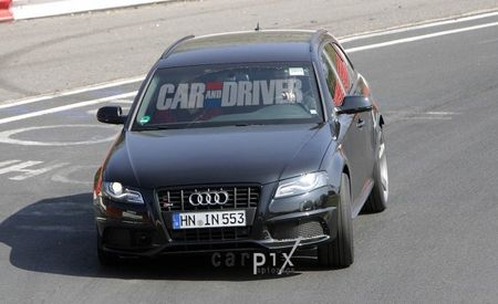 2012 Audi RS4 Avant Spied While Testing at the Nürburgring