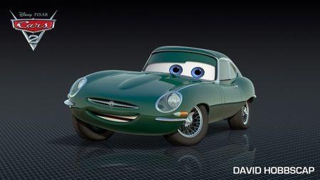 <em>Cars 2</em> Character Debut: David Hobbs as Jaguar E-type David Hobbscap