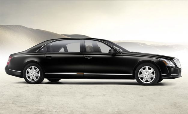 Maybach 62 Guard Stops Bullets with Steel and Kevlar