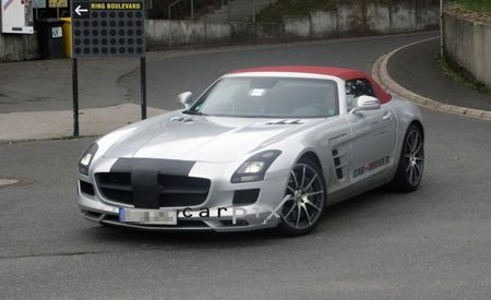2012 Mercedes-Benz SLS AMG Roadster Spied
