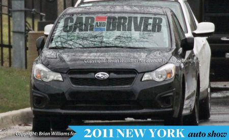 2012 Subaru Impreza Spied Completely Uncovered