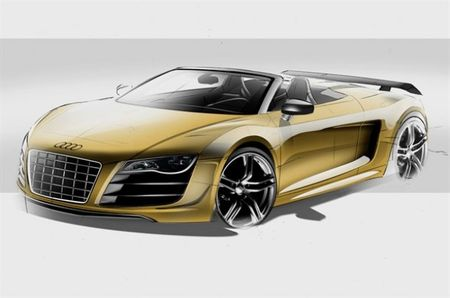 Audi Sketches Out the Lightweight R8 GT in Weight-Added Spyder Form