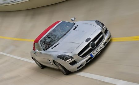 Mercedes-Benz Releases Its Own Spy Photos of the 2012 SLS AMG Roadster