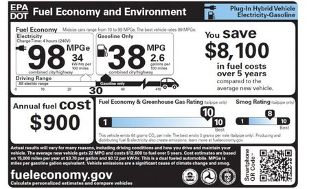 New EPA Fuel-Economy Stickers for Gas Vehicles, Plug-in Hybrids, and EVs Explained