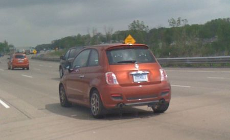 2013 Fiat 500 Abarth Spotted Poking About On Michigan Freeway