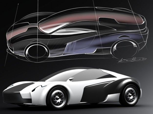 Pagani's Designer Antonio Bruni Sketches His Idea For an Electric Sports Car