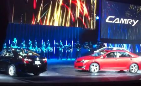 2012 Toyota Camry Captured Uncovered in Dealer-Meeting Video