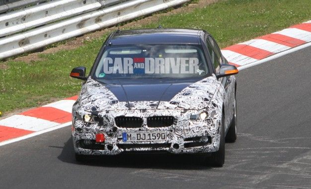 2013 BMW 3-series / 335i Spied Lapping the 'Ring