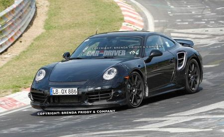 2013 Porsche 911 Turbo Spy Photos: The Big Wing is Back