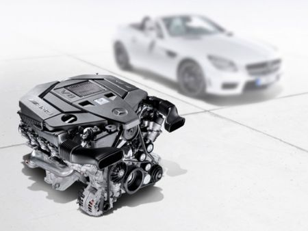 Mercedes-Benz Drops 422-hp Naturally Aspirated Version of New 5.5-liter V8 into 2012 SLK55 AMG