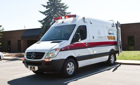 """Mercedes-Benz Brings a """"TraumaHawk"""" Sprinter Ambulance to the C/D Office"""