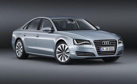 Euro-Only 2012 Audi A8 Hybrid Revealed, Four-Cylinder and Electric Motor Combine for 245 hp