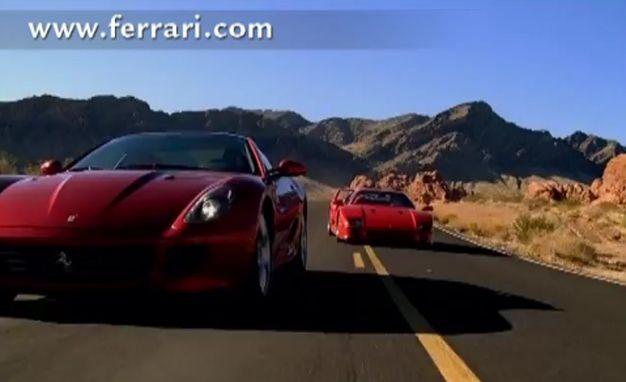 Ferrari Video Pits 599GTB Fiorano Against F40 on Twisty Blacktop in Pure Fantasy