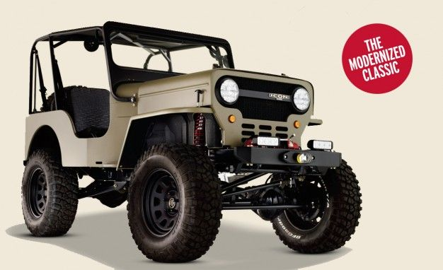 willys why wouldn 8217 t he icon reimagines the willys overland cj3b rh caranddriver com Willys CJ3B Mahindra CJ3B