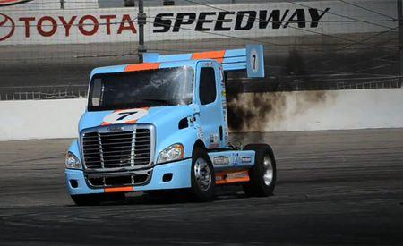 Mike Ryan Drifts His Pikes Peak Freightliner, Video Is Epic