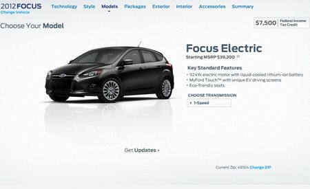 Ford Releases Pricing for 2012 Focus Electric: $39,995 Before Tax Credit