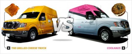 Nissan NV Food Trucks Compared: Coolhaus vs. The Grilled Cheese Truck