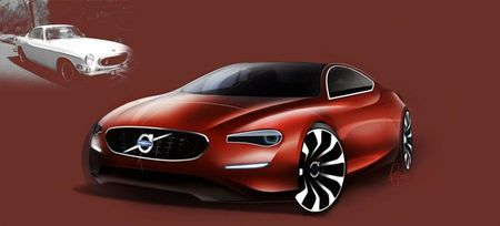 Volvo Designer Re-Imagines the 1960s-Era P1800 Sports Car for Its 50th Anniversary