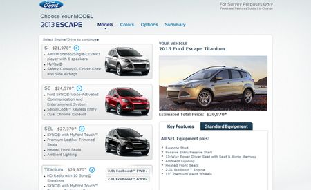 2013 Ford Escape Tentatively Priced