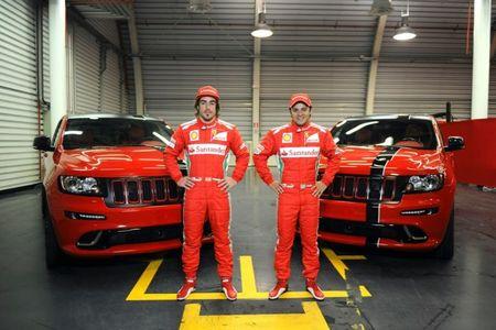 Alonso and Massa Receive Matching Ferrari-Red Jeep Grand Cherokee SRT8s