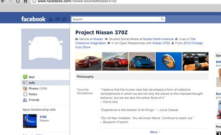 Nissan Planning Crowd-Sourced 370Z Project Car via Facebook [Chicago Auto Show]