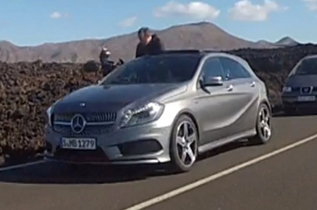 2013 Mercedes-Benz A-Class Caught Undisguised During Photo Shoot