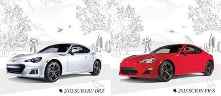 Subaru BRZ and Scion FR-S Fuel-Economy Figures Announced