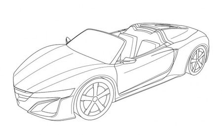 Acura NSX Roadster Design Revealed in European Patent Filing