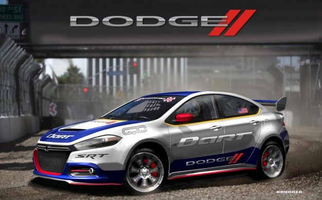 Dodge Unveils 2013 Dart Rally Car for RallyCross Competition, Taps Travis Pastrana as Driver