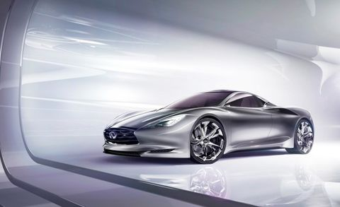 Dissected Lotus Based Infiniti Emerg E Sports Car Concept Feature