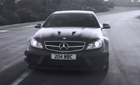 Mercedes-Benz C63 AMG Black Series Goes Monochrome, Tears It Up in New Video