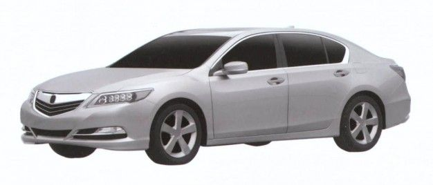 Production-Ready Acura RLX Revealed in Patent Images