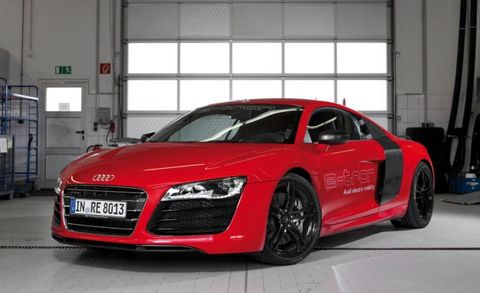 "Audi R8 e-tron Sets ""World-Record"" Lap Time at the Nürburgring"