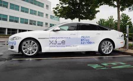 Jaguar Shows Off XJ_e Plug-In Hybrid Research Vehicle at Goodwood