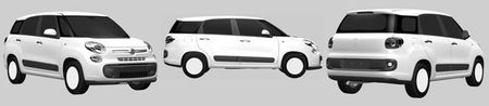 Fiat Readies Seven-Seat 500XL, Patent Drawings Show