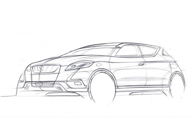 Suzuki Bringing S-Cross Crossover Concept to Paris Show, Releases Preview Images
