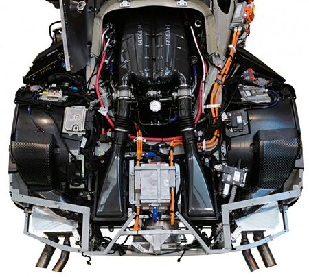 Ferrari Releases Image of Enzo Successor's Engine Bay, Complete with Engine and Hybrid Gear