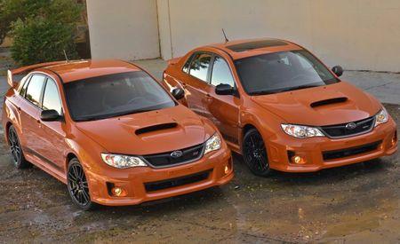 2013 Subaru WRX and WRX STI Orange and Black Special Editions: Smashing Pumpkins [2012 SEMA Show]